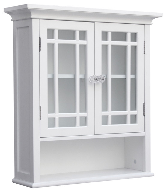 Neal Wall Cabinet With 2 Doors And 1 Shelf Transitional