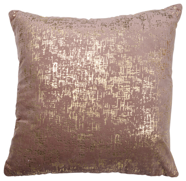 Dashiell Silver Beaded Pillow, Dark Pink, 20x20