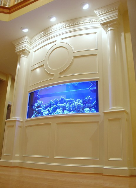 Baltimore Built In Aquarium Fireplace And Theater
