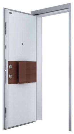 Adonis Steel Security Door White Walnut Finish Interior Doors By Score Materials