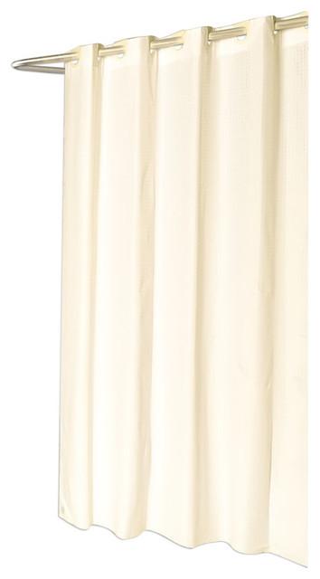 Bathroom Shower Stall Sized EZ ON Checks Polyester Curtain