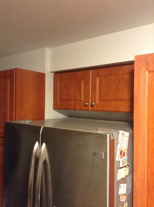 How Can I Fix My Shallow Above Fridge Cabinet?