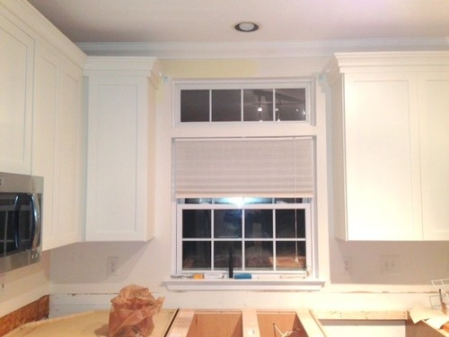 Can Cabinet Crown Molding Overlap Window Trim?