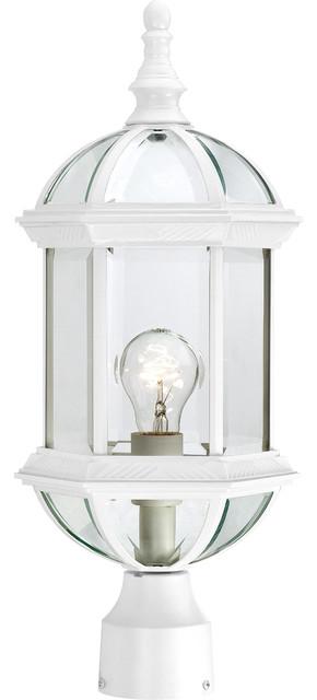 Nuvo 1-Light Boxwood Outdoor Light Fixture, White.