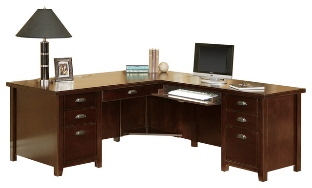 Tribeca Loft Cherry Right 68 Desk And Return Combined Price.