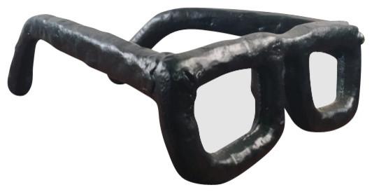 Eyeglasses Sculpture Unique Modern Cast Iron Glasses