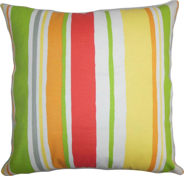 Yellow Green Decorative Pillows : Ibbie Stripes Pillow, Green Yellow - Decorative Pillows - by HedgeApple