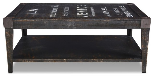Reclaimed Wood Graffiti Coffee Table Industrial Coffee Tables