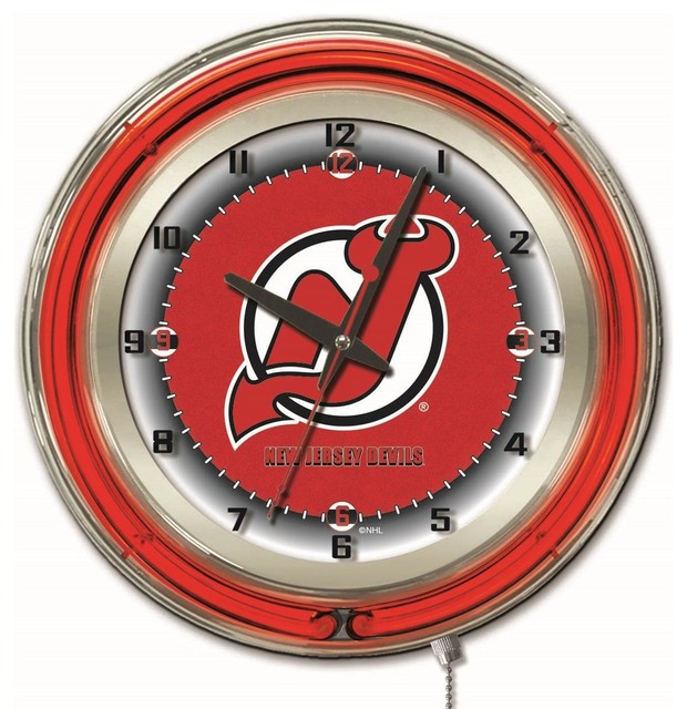 New Jersey Devils Double Neon Ring 15quot Logo Clock  : contemporary clocks from www.houzz.com size 620 x 640 jpeg 101kB