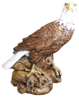 Jimu0027s Otisco Concrete Eagle Statue In Detail Painted Finish   Traditional   Garden  Statues And Yard Art   By SVJ Creative Designs