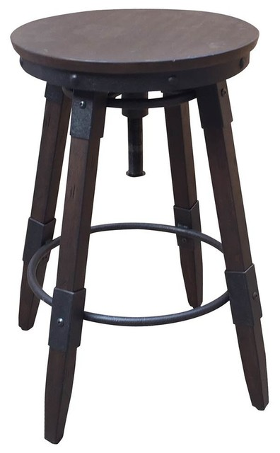 Terrific Swivel Backless Bar Stool Dark Brown Cjindustries Chair Design For Home Cjindustriesco