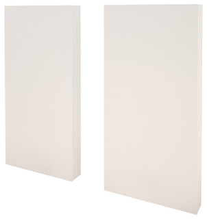 Extension Panels (Set of 2) for Plank Effect Headboards, White