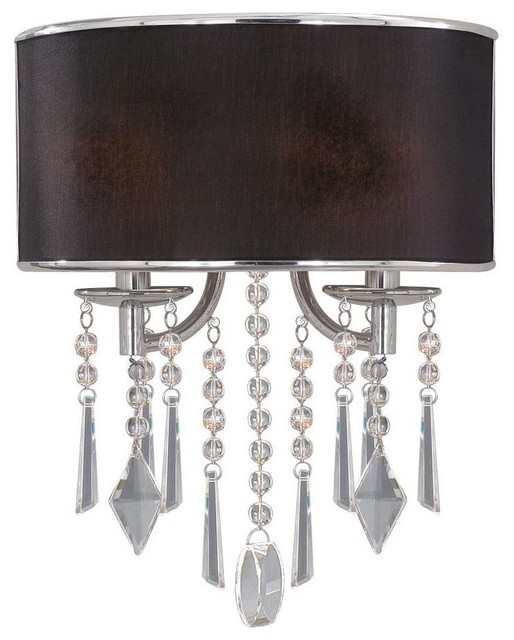 Wall Sconce Lighting Design : Golden 2-Light Wall Sconce, Chrome - Traditional - Wall Sconces - by Lighting and Locks