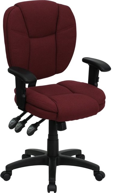 Phenomenal Aberdeen Mid Back Burgundy Fabric Ergonomic Swivel Office Task Chair With Arms Pdpeps Interior Chair Design Pdpepsorg