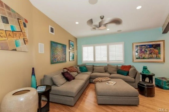 Wilton - A splash of color for the family room