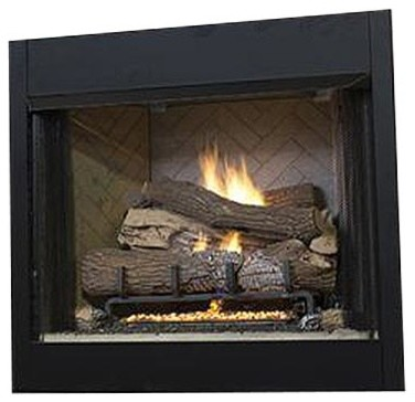 "36"" Tall Vent-Free Universal Circulating Firebox, White Stacked Liner"