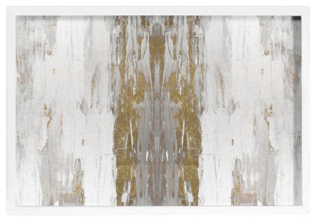 """Oliver Gal """"Sensation White"""" Framed Art, 45""""x30"""""""