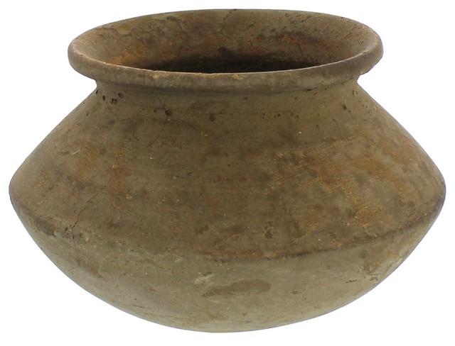 Vintage Reclaimed Clay Water Pot, Jug Planter Flower Urn