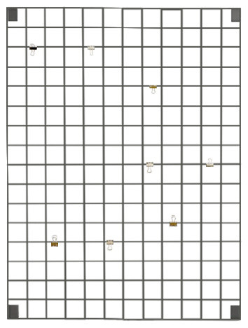 Block Wire Mesh Memo Board, Grey