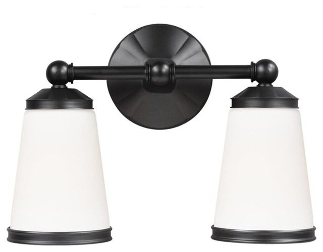 Eastwood 2 Light Bathroom Vanity Light In Oil Rubbed Bronze Transitional Bathroom Vanity