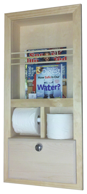 camarillo inthewall magazine rack with double toilet paper and storage cubby