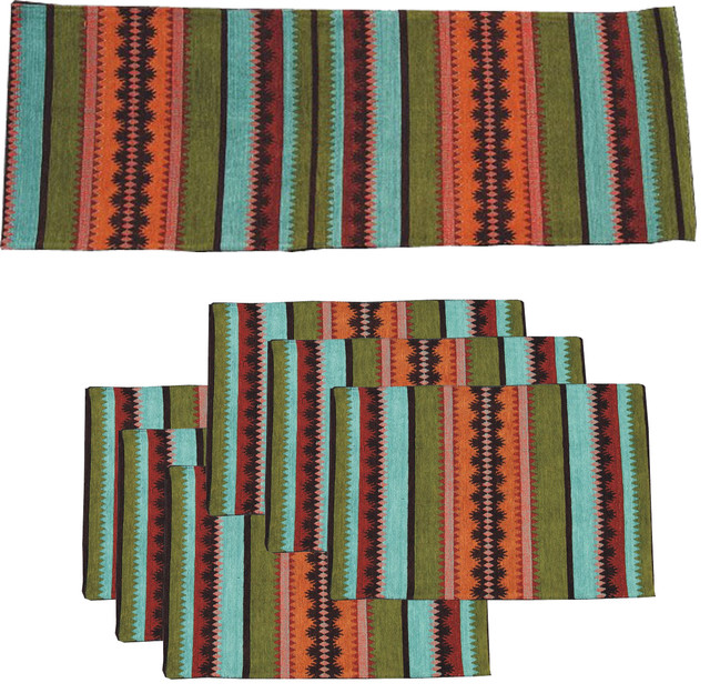 \ Siddi\  Southwest Table Runner With Placemats Set of 7. \   sc 1 st  Houzz & Siddi\