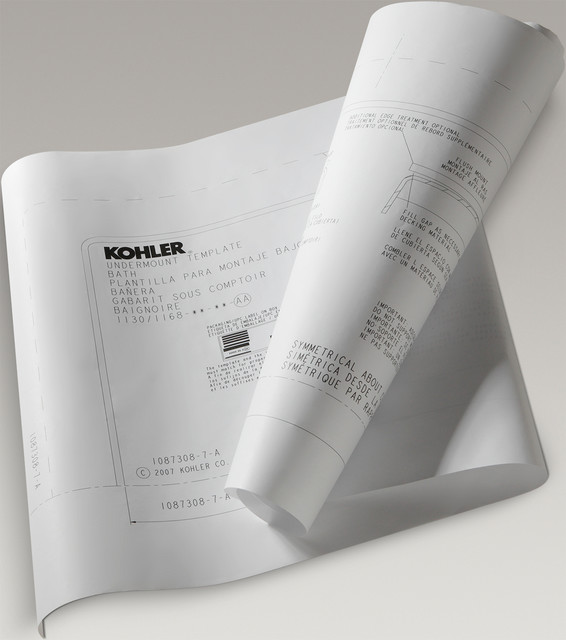 Kohler 883-NA Underscore Under-Mount Install Kit For K-5715 And K-5716