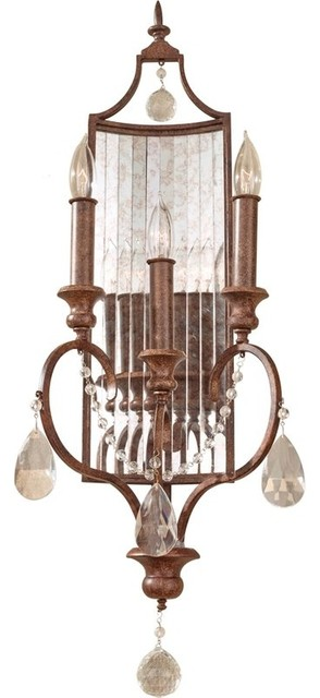 Traditional Wall Sconces With Candles : 3- Light Sconce - Traditional - Wall Sconces - by Buildcom