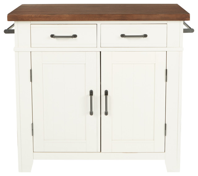 Urban Farmhouse Kitchen Island, White/vintage Oak