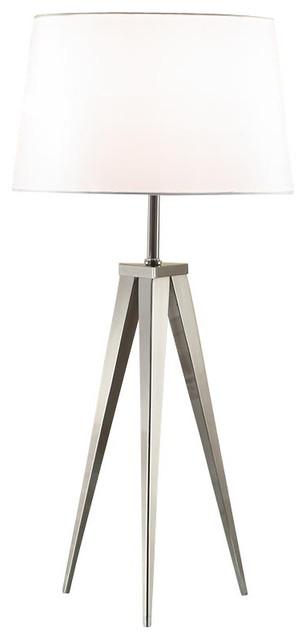 Artiva hollywood 30 brushed steel tripod table lamp table lamps artiva hollywood 30 brushed steel tripod table lamp aloadofball Choice Image
