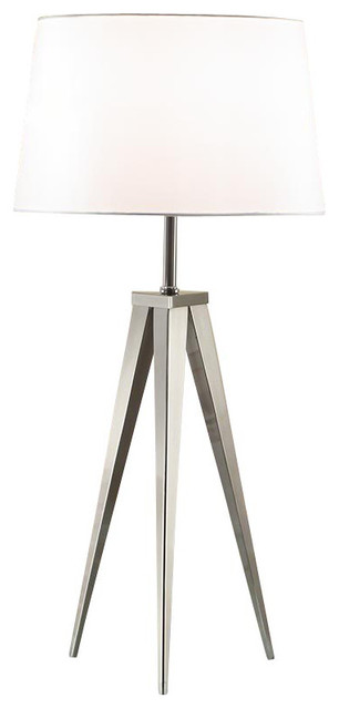 Artiva hollywood 30 brushed steel tripod table lamp table lamps artiva hollywood 30 brushed steel tripod table lamp table lamps mozeypictures Image collections