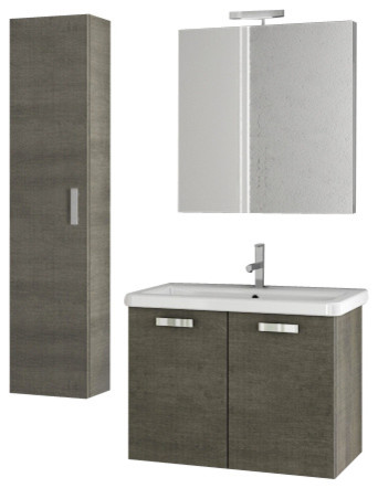 30 Inch Grey Oak Bathroom Vanity Set Modern Bathroom Vanities