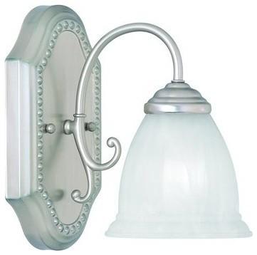 Savoy house spirit 1 light bath bar pewter craftsman bathroom vanity lighting by hansen for Savoy house bathroom lighting