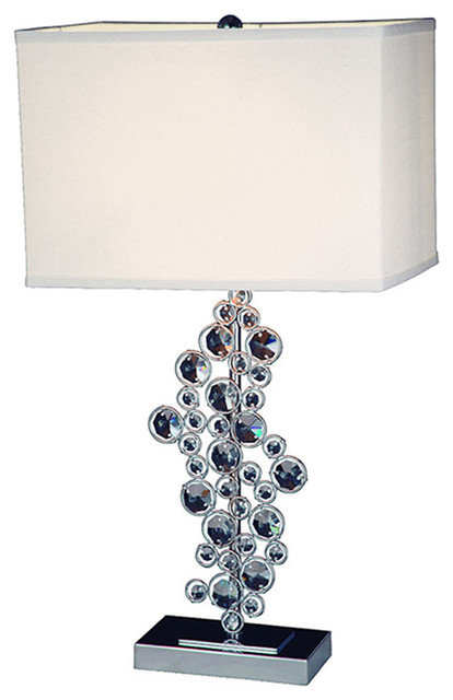 Elegant Designs Sequin And Chrome Table Lamp With  : contemporary table lamps from www.houzz.com size 414 x 640 jpeg 43kB