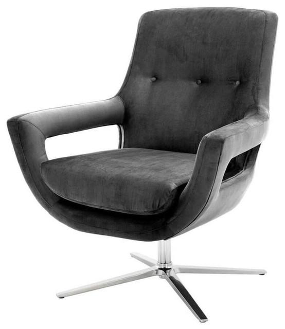 Eichholtz Flavio Chair, Granite Grey