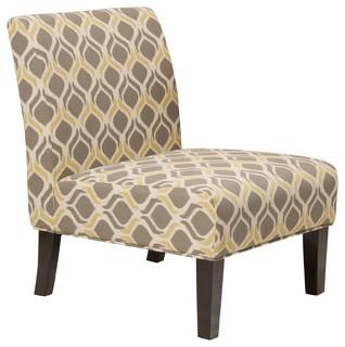 Kalee Navy Blue Print Fabric Dining Chair Southwestern