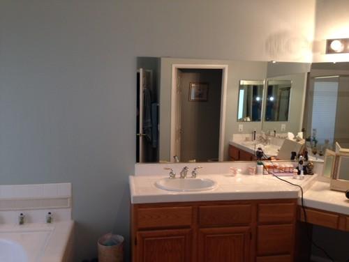 Bathroom Lighting Needs need help with master bath ideas.90's style bathroom needs uplift