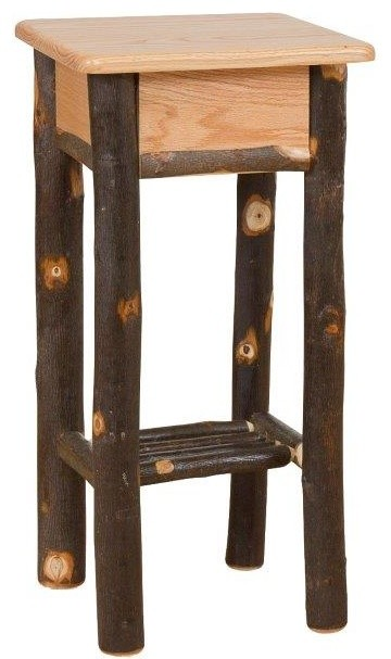 Rustic Hickory Phone Stand/tall End Table.