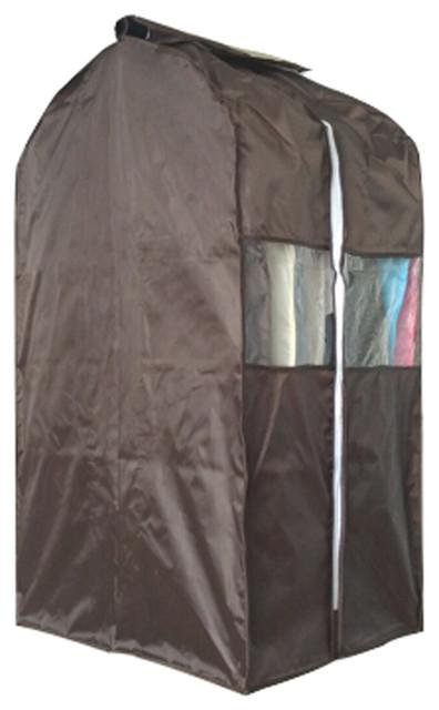 0e24208faa79 1 Storage Garment Shoulder Cover, Suit Dust Cover Hanging Coat Pocket