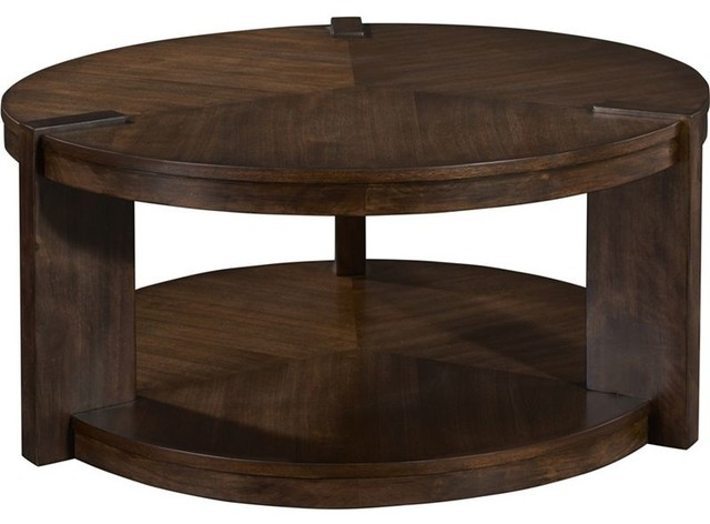 Round rotating cocktail table side tables and end tables for Revolving end table