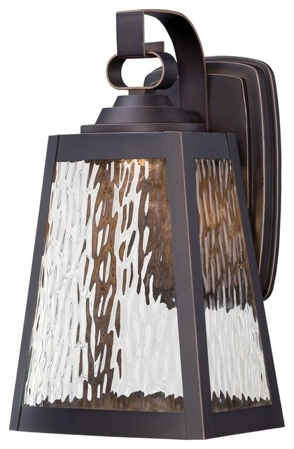 Talera 12.75 11w 1 Led Outdoor Wall Mount, Oil Rubbed Bronze/gold, Clear Water.