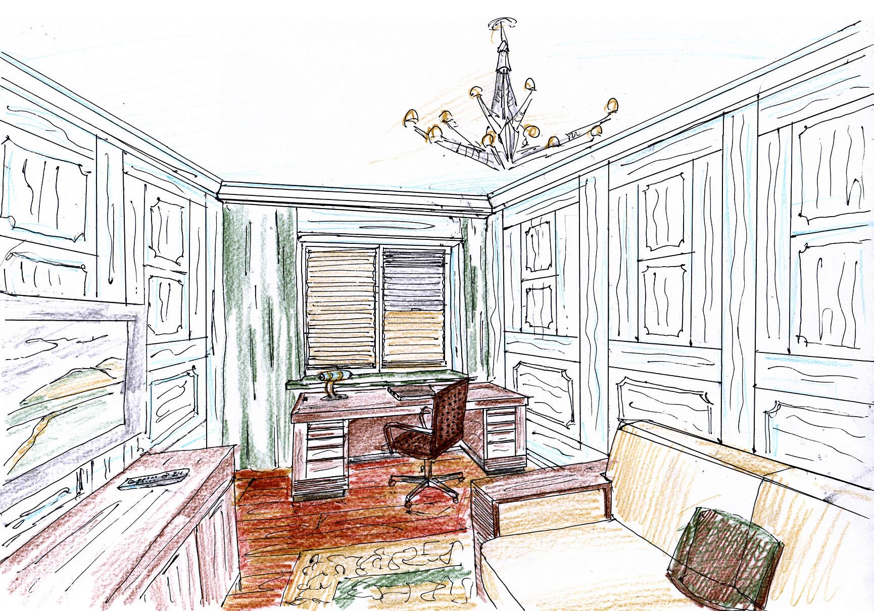 Квартира Рублевское шоссе рисунок