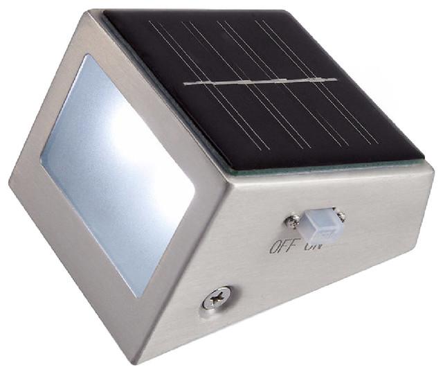 Lighting Basement Washroom Stairs: Stainless Steel Solar Step Light