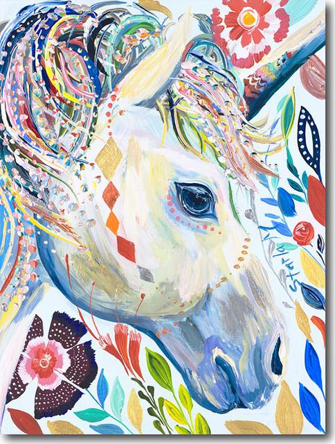 """u For Unicorn"" Artwork By Starla Michelle Halfmann, 12""x16""."