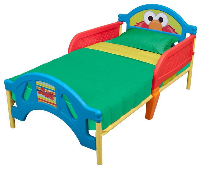 Sesame Street Elmo Plastic Toddler Bed