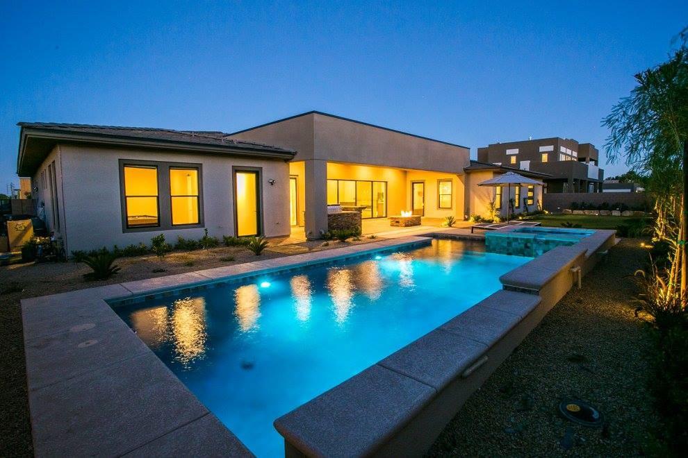 Example of a trendy pool design in Las Vegas