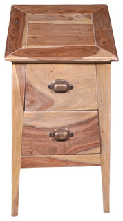 Wooden 2 Drawer Bedside Table