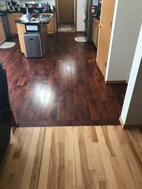 Ideal What to do with my two toned wood flooring?? YA78