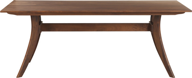 Florence Rectangular Dining Table Walnut, Brown, Small.