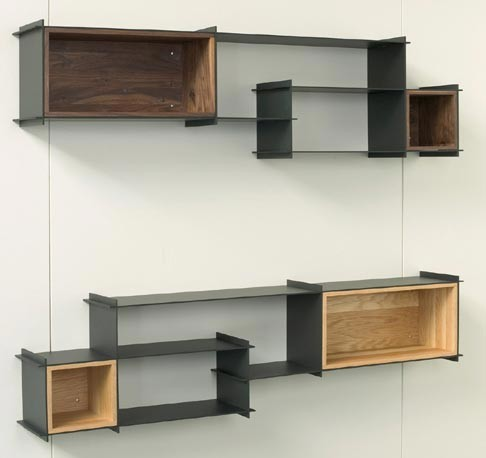 Modern Wall Shelving hivemindesign - crux wall unit - modern - display and wall shelves